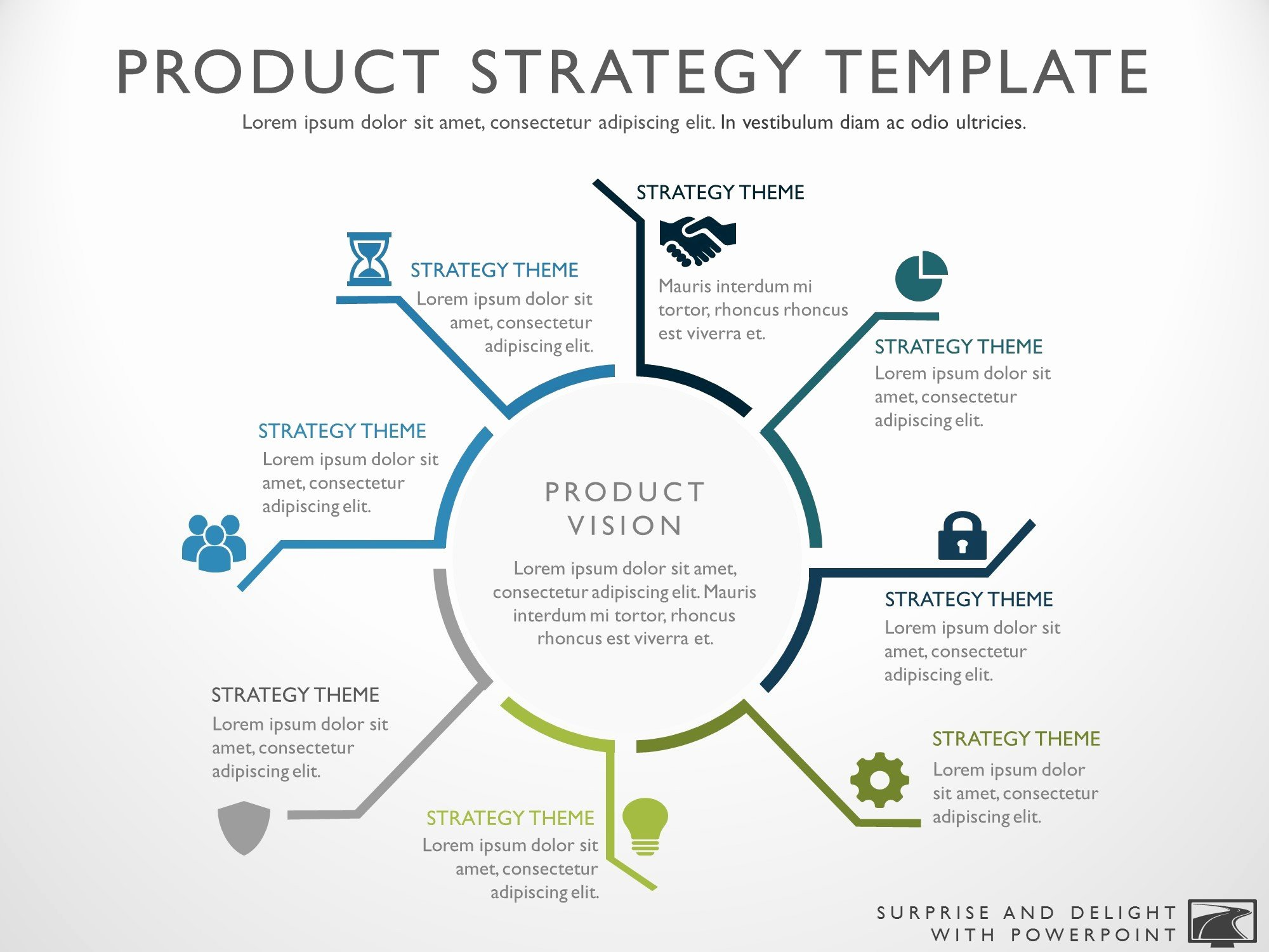 Strategy Plan Template Powerpoint New Product Strategy Template