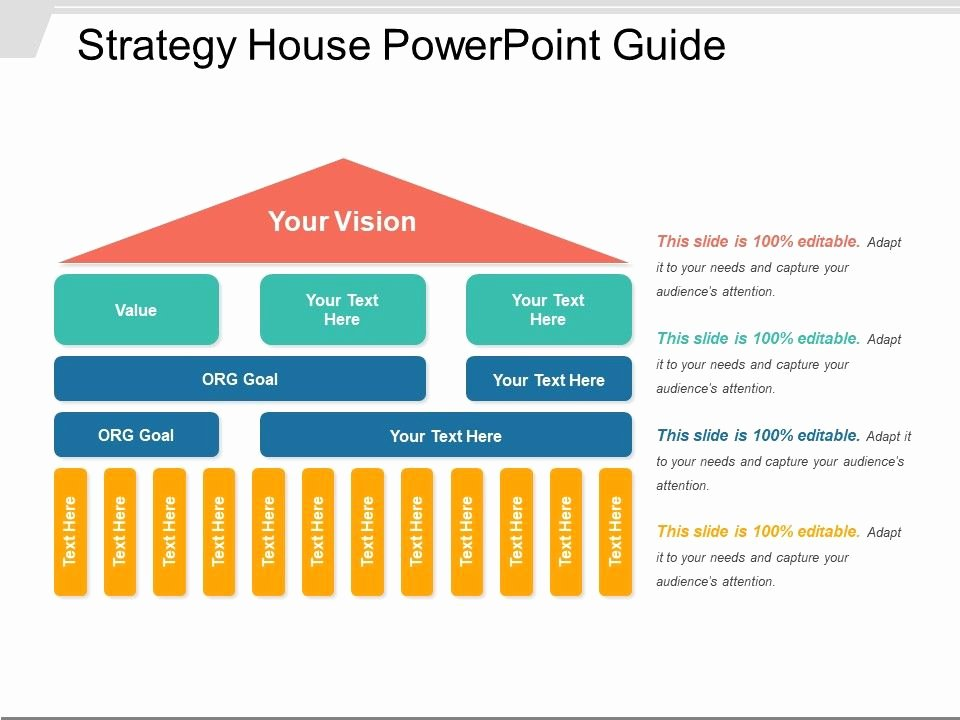 Strategy Plan Template Powerpoint New Strategy House Powerpoint Guide
