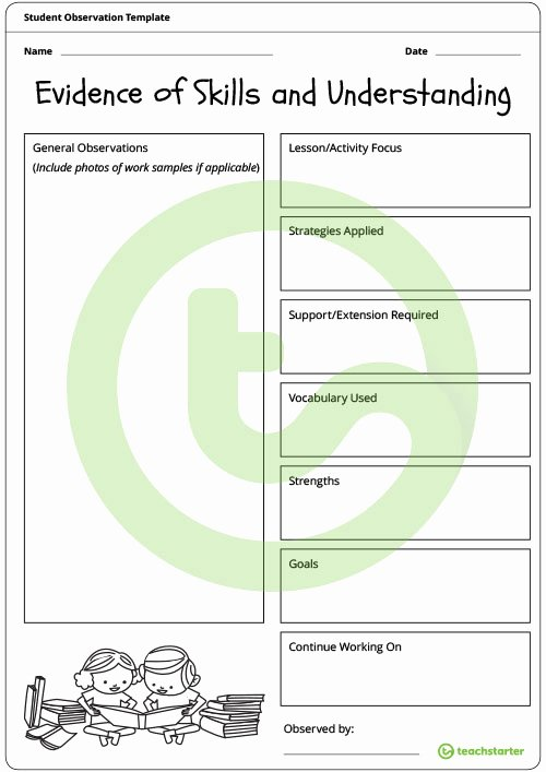 Student Observation form Template Best Of How to Nail Your Practicum as A Student Teacher Teach