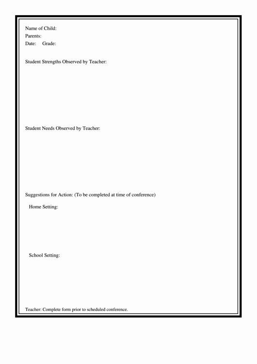Student Observation form Template Luxury Student Observation form Printable Pdf