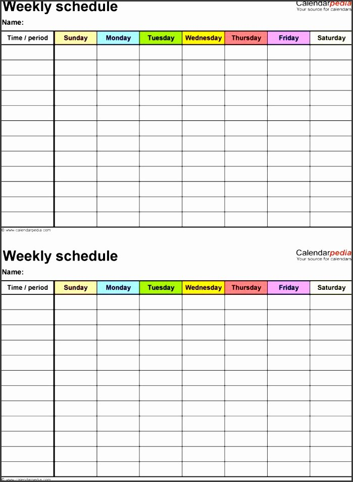 Student Weekly Schedule Template Beautiful 4 Daily Schedule Template for Students Sampletemplatess