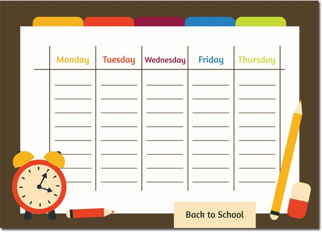 Student Weekly Schedule Template New 10 Students Weekly Itinerary and Schedule Templates