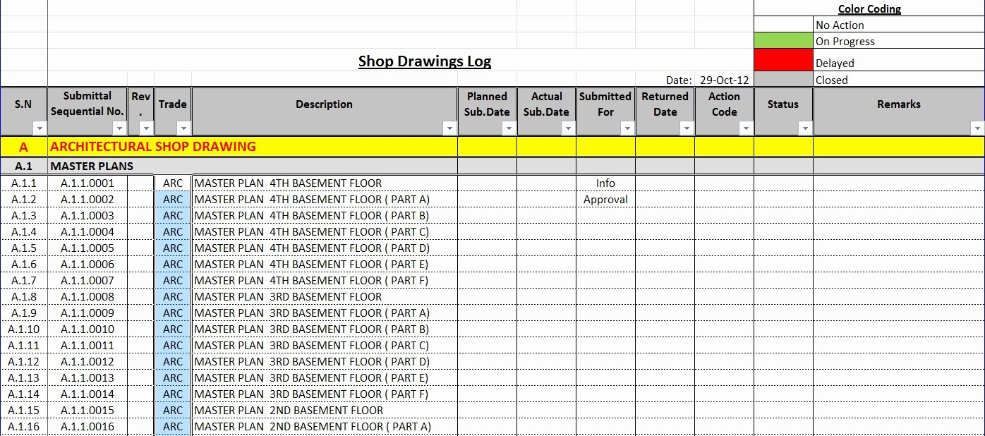 Submittal Schedule Template Excel Lovely Submission Tracking Spreadsheet – Db Excel