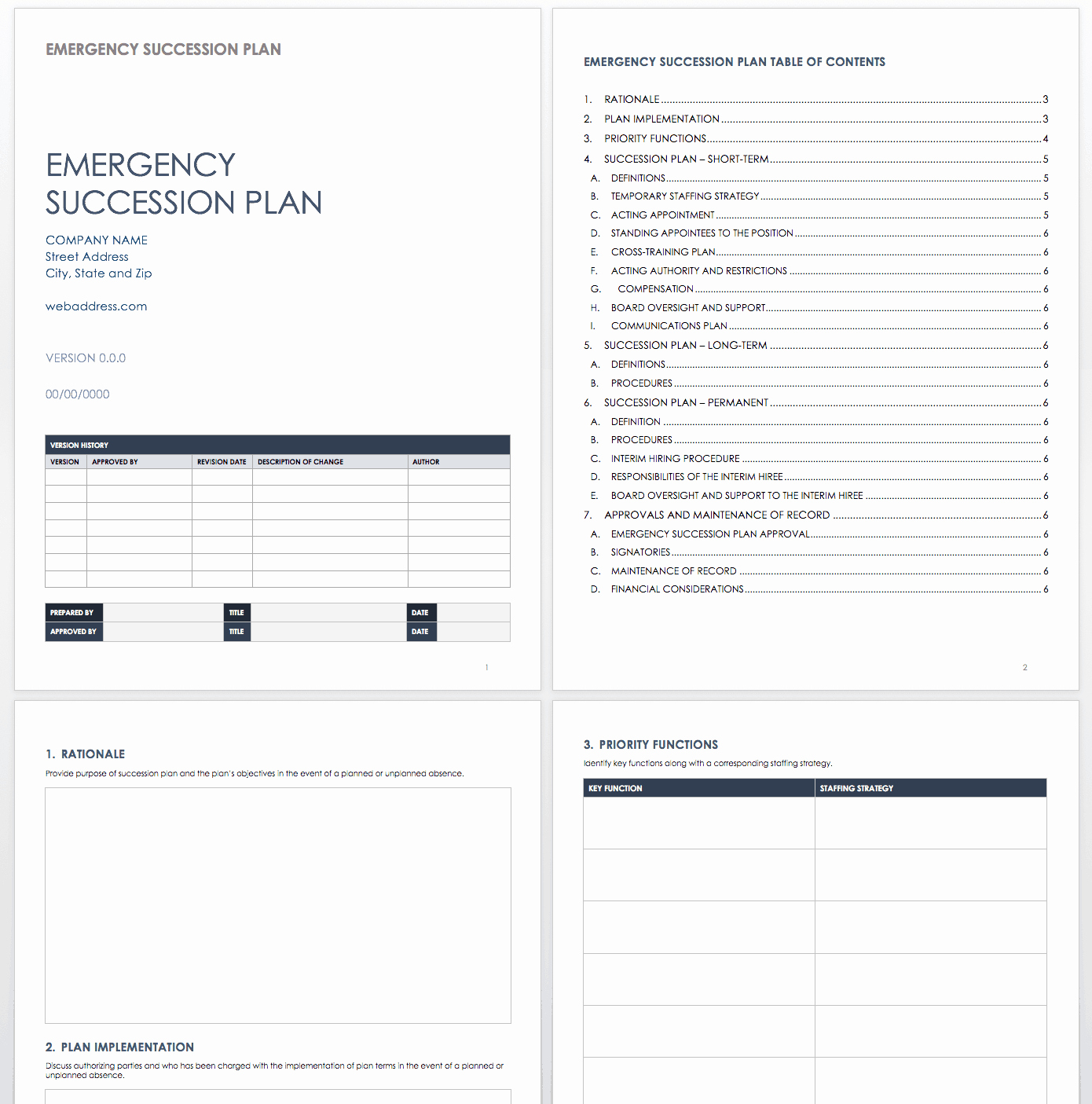 Succession Planning Template for Managers Awesome Free Succession Planning Templates