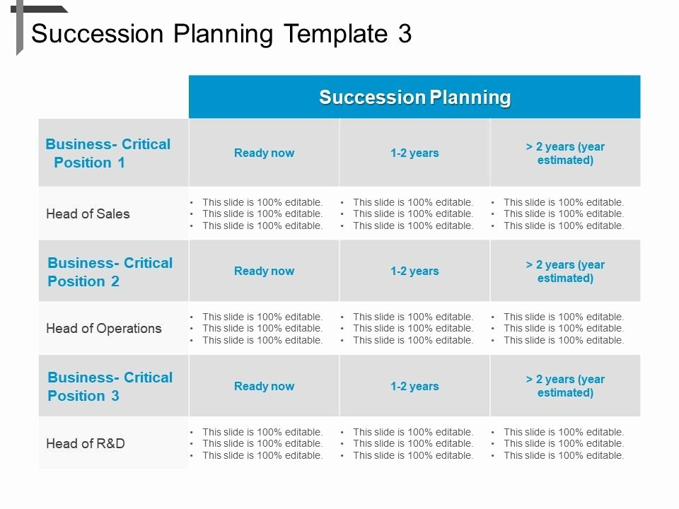 Succession Planning Template for Managers Fresh Succession Planning Template 3 Ppt Sample Download