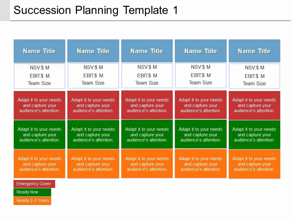 Succession Planning Template for Managers New Succession Planning Template 1 Ppt Presentation Examples