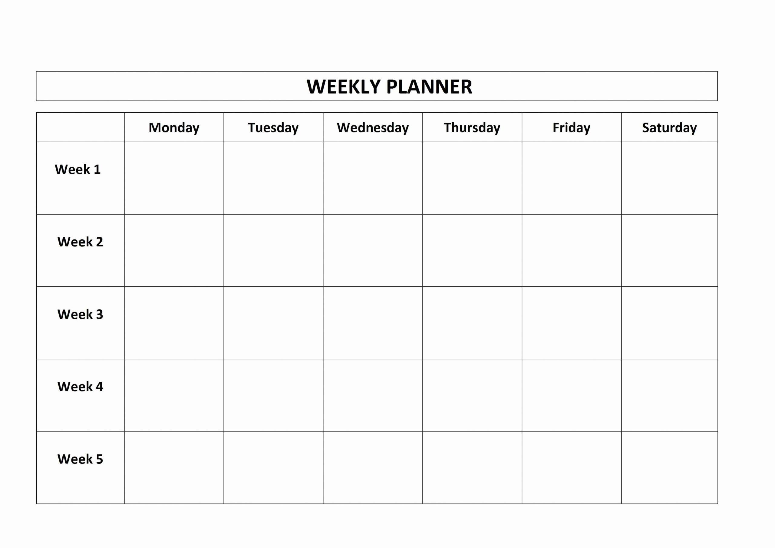 Sunday School Schedule Template Best Of Free Printable Weekly Planner Monday Friday School