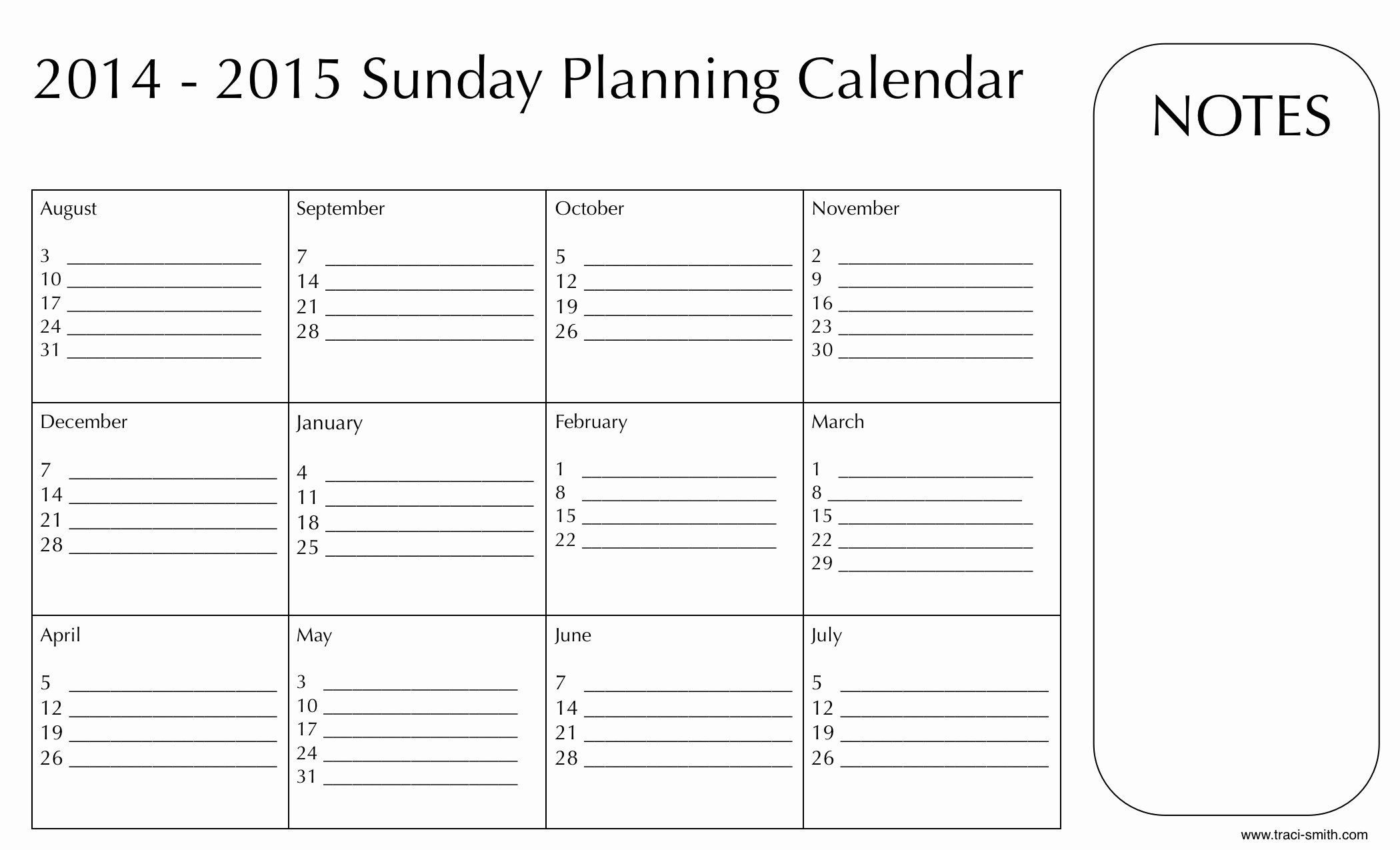 Sunday School Schedule Template Elegant Labor Day Present for You Downloadable Planning Calendars