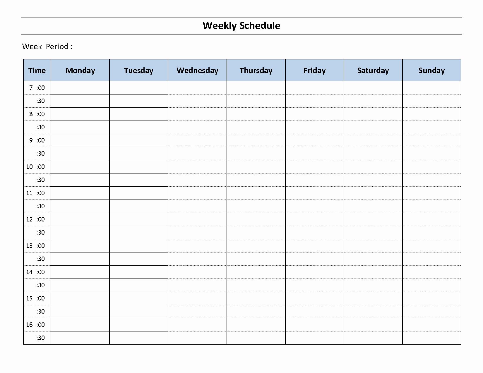 Sunday School Schedule Template Luxury Construction Schedule Template Excel Free Download