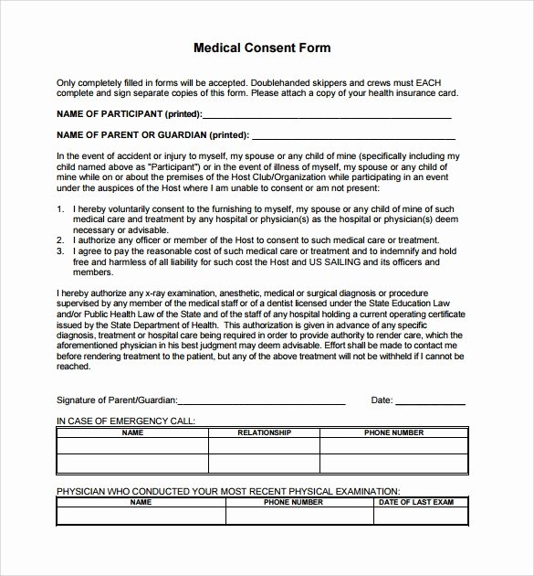 Surgical Consent form Template Unique Sample Medical Consent form 13 Free Documents In Pdf