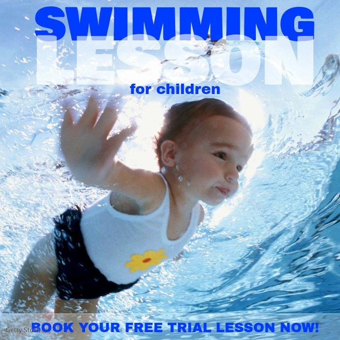Swim Lesson Plan Template Fresh Swimming Lesson Insta Template