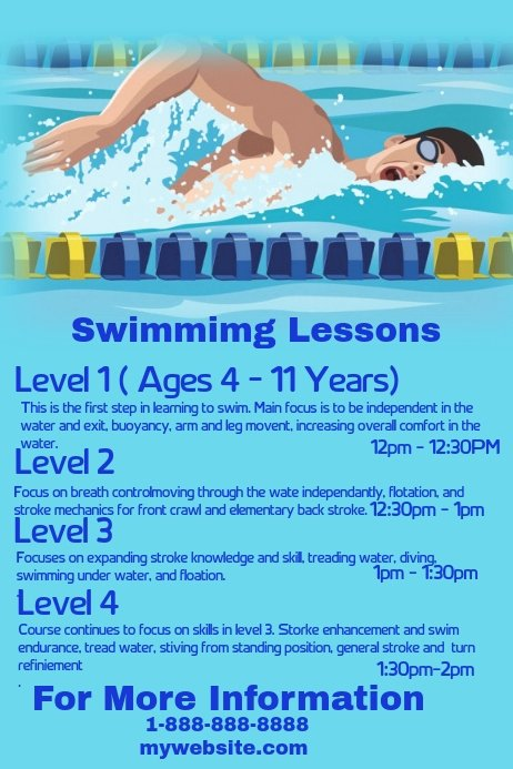Swim Lesson Plan Template Lovely Swimming Lessons Template