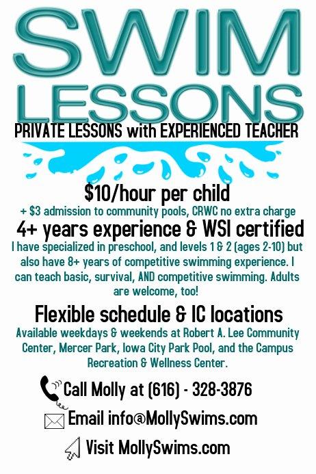 Swim Lesson Plan Template New Swim Lessons Poster Template