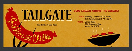 Tailgate Party Invitation Template Awesome Free Tailgating Party Line Invitations