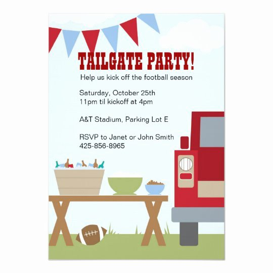 Tailgate Party Invitation Template Awesome Tailgate Party Invitation