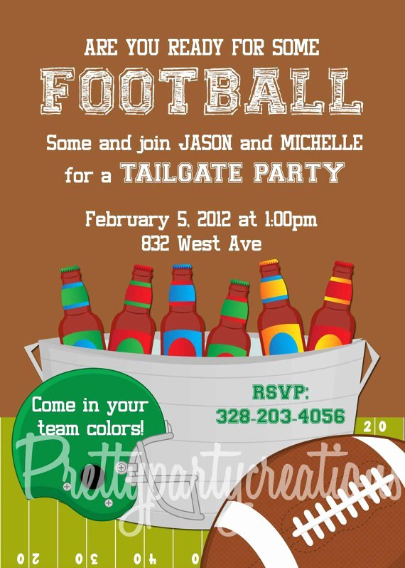 Tailgate Party Invitation Template Beautiful Football Tailgate Invitations