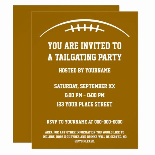 Tailgate Party Invitation Template Best Of Football Tailgating Party Invitation