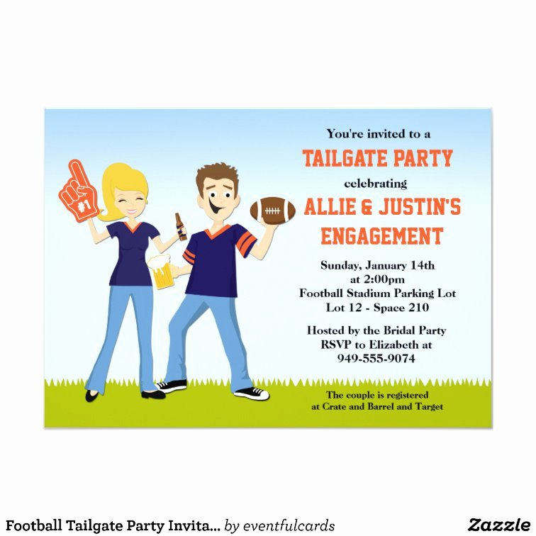 Tailgate Party Invitation Template Elegant Football Tailgate Party Invitation