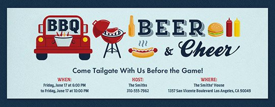 Tailgate Party Invitation Template Fresh Free Tailgating Party Line Invitations