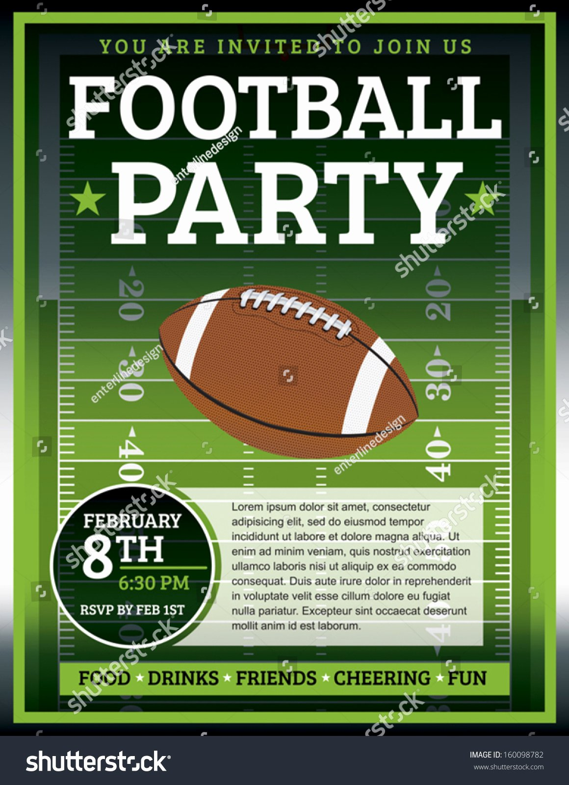 Tailgate Party Invitation Template Inspirational Eps 10 Flyer Design Perfect Tailgate Stock Vector