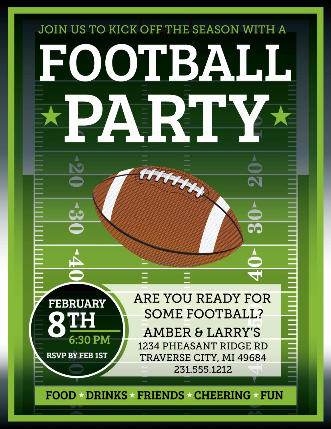 Tailgate Party Invitation Template Inspirational Football Invitation Superbowl Tailgate Party by