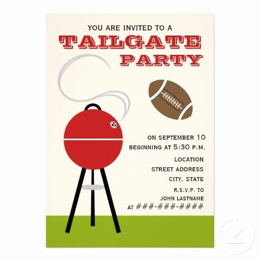 "Tailgate Party Invitation Template Lovely Tailgate Party Invitation 5"" X 7"" Invitation Card"