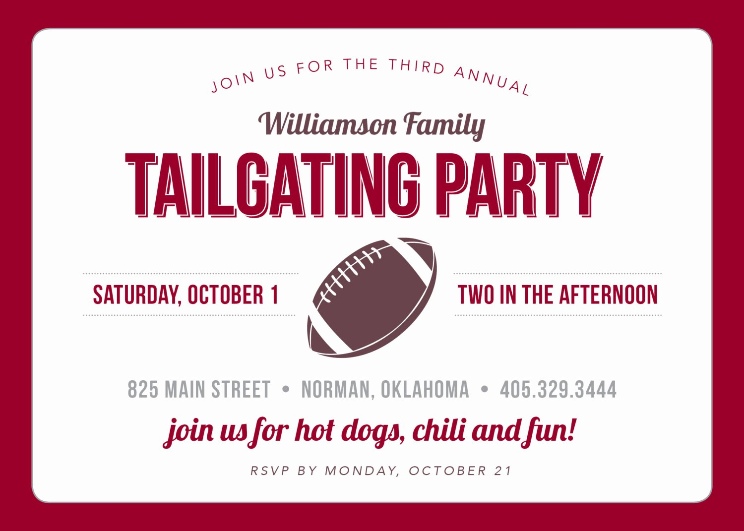 Tailgate Party Invitation Template Lovely Tailgate Party Invitation by touiesdesign On Etsy