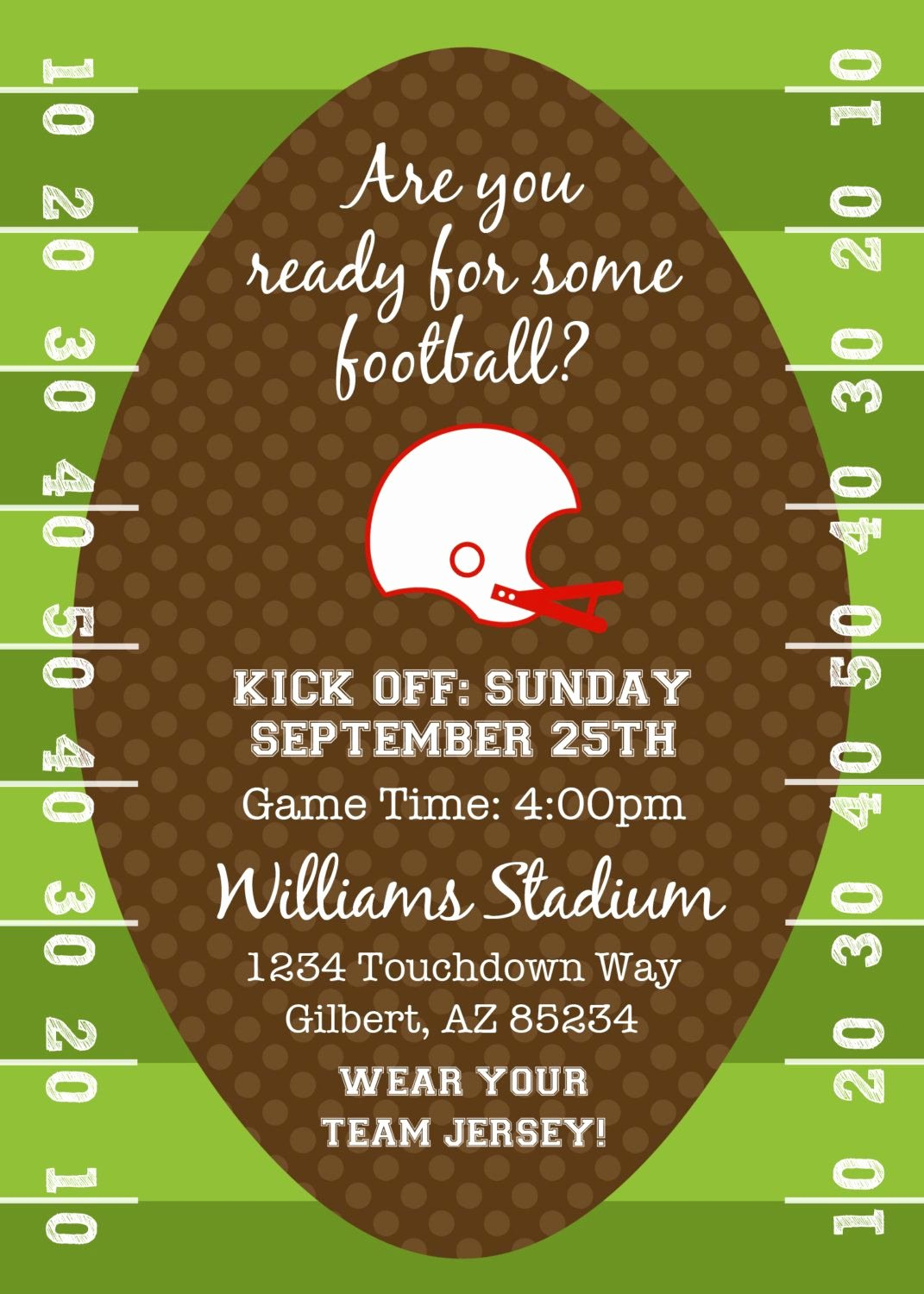 Tailgate Party Invitation Template Luxury Football or Tailgating Birthday Party or Shower