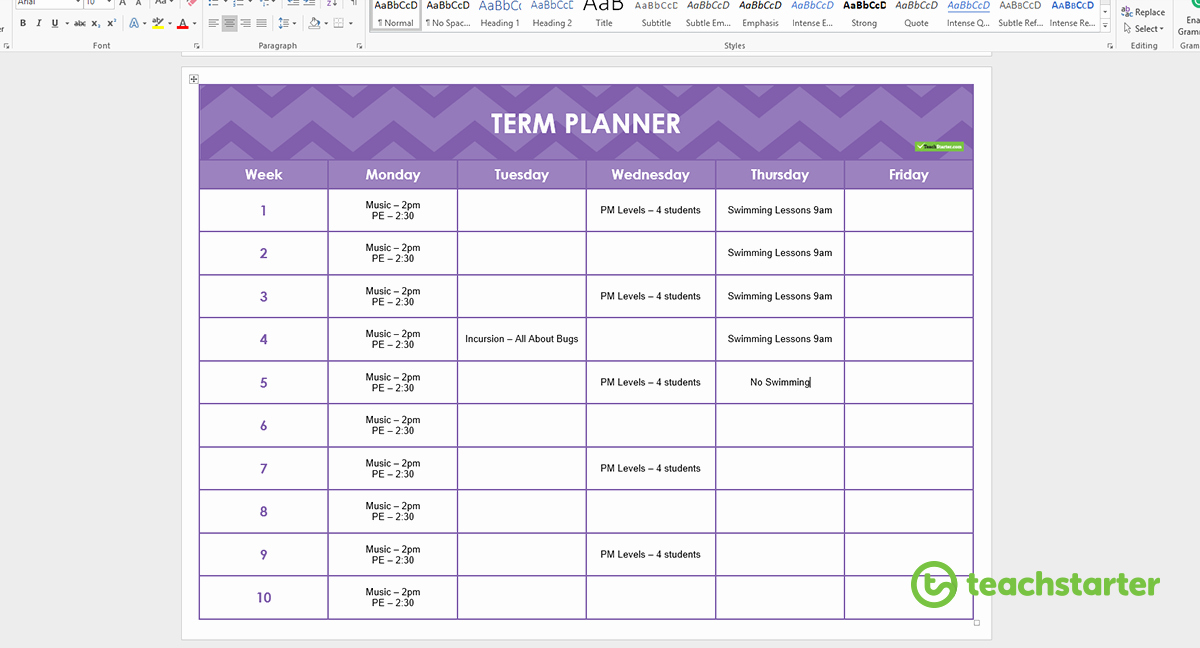 Teacher Daily Planner Template Unique Create Your Own Teacher Planner Using Printable Templates