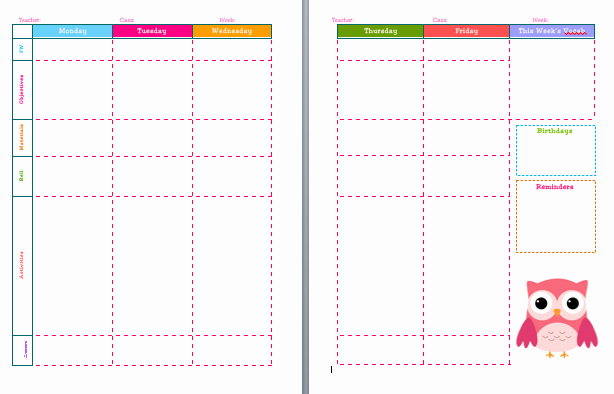 Teacher Day Plan Template Lovely 46 Of the Best Printable Daily Planner Templates