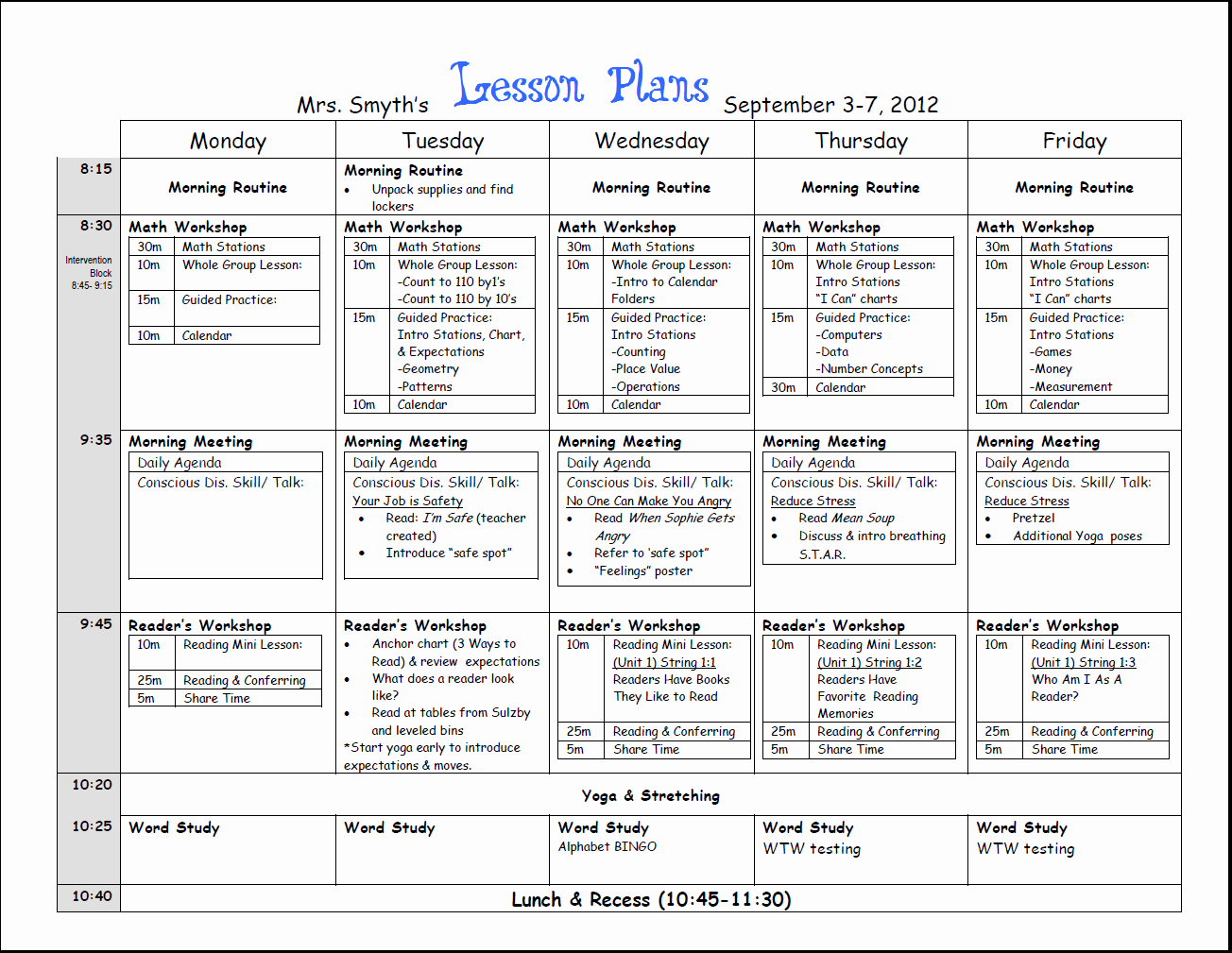 Teacher Day Plan Template Lovely Free Weekly Lesson Plan Template and Teacher Resources
