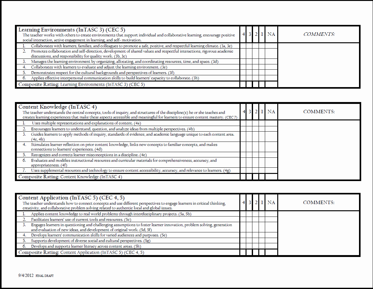 Teacher Evaluation form Template Inspirational 27 Of Teacher Evaluation Checklist Template