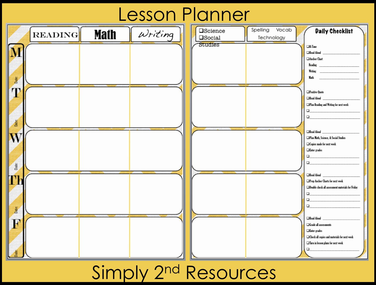 Teacher Lesson Plan Book Template Elegant Lesson Plan Book Template Printable
