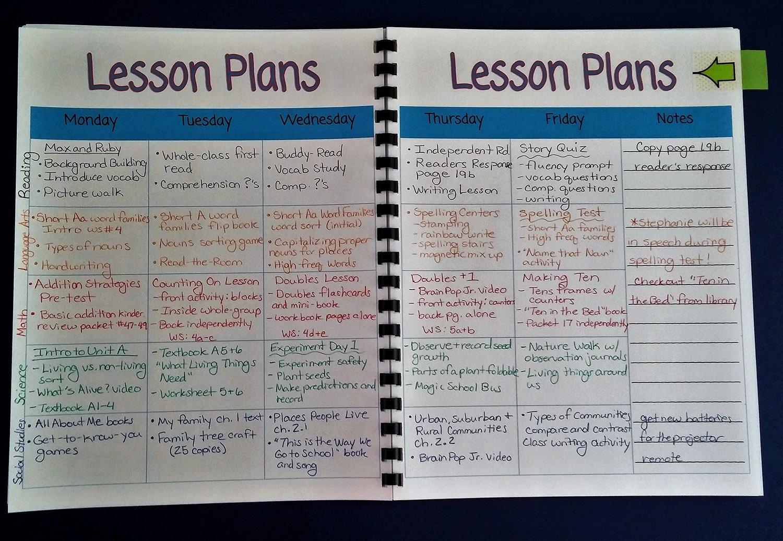 Teacher Lesson Plan Book Template Elegant Printable Teacher Planner