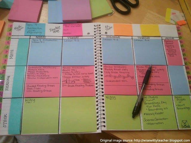 Teacher Lesson Plan Book Template Inspirational Artisan Des Arts Post It Note Day Planner Template