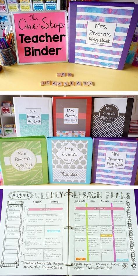 Teacher Lesson Plan Book Template Luxury Editable Teacher Binder