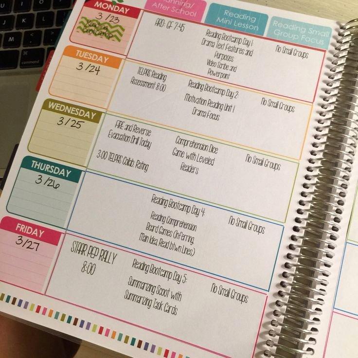 Teacher Lesson Plan Book Template New Digital Teacher Planner Editable Lesson Plan Template by