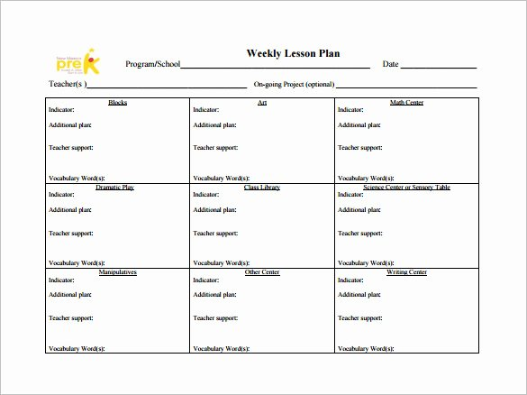Teacher Lesson Plans Template Awesome Weekly Lesson Plan Template 10 Free Word Excel Pdf