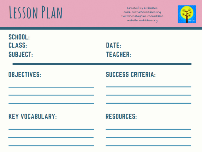 Teacher Lesson Plans Template Best Of 11 Free Lesson Plan Templates for Teachers