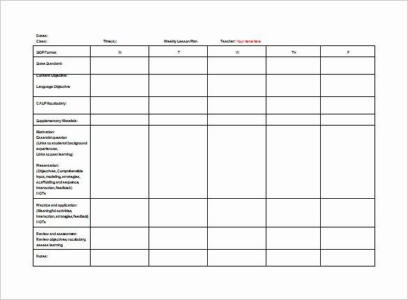 Teacher Lesson Plans Template Best Of Teacher Lesson Plan Template 8 Free Sample Example