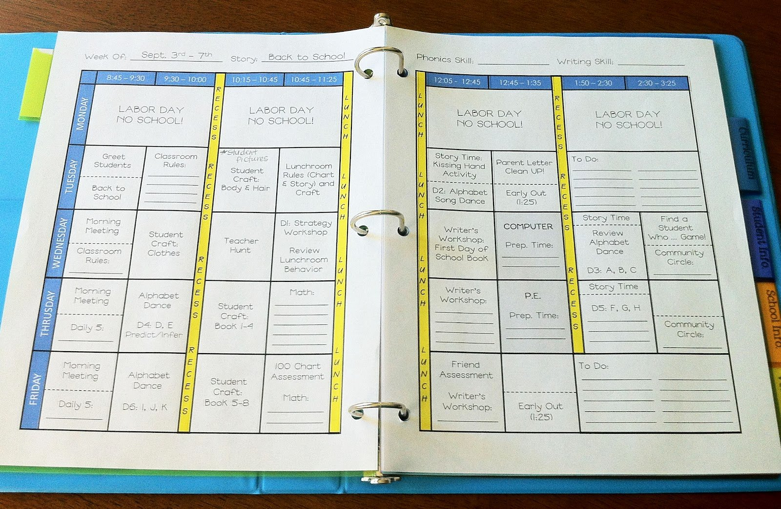 Teacher Lesson Plans Template Unique the Teacher Wife How to Create Your Own Teacher Binder