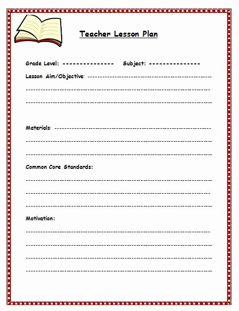 Teachers College Lesson Plan Template Awesome Free Lesson Plan Template