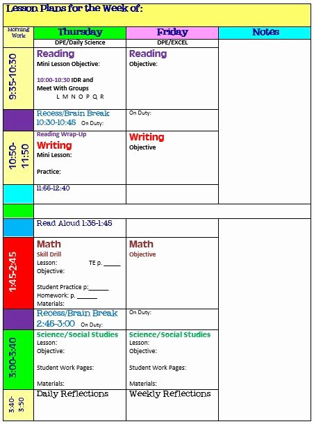 Teachers College Lesson Plan Template Fresh Simplify Your Life with An All In E Teacher organizer