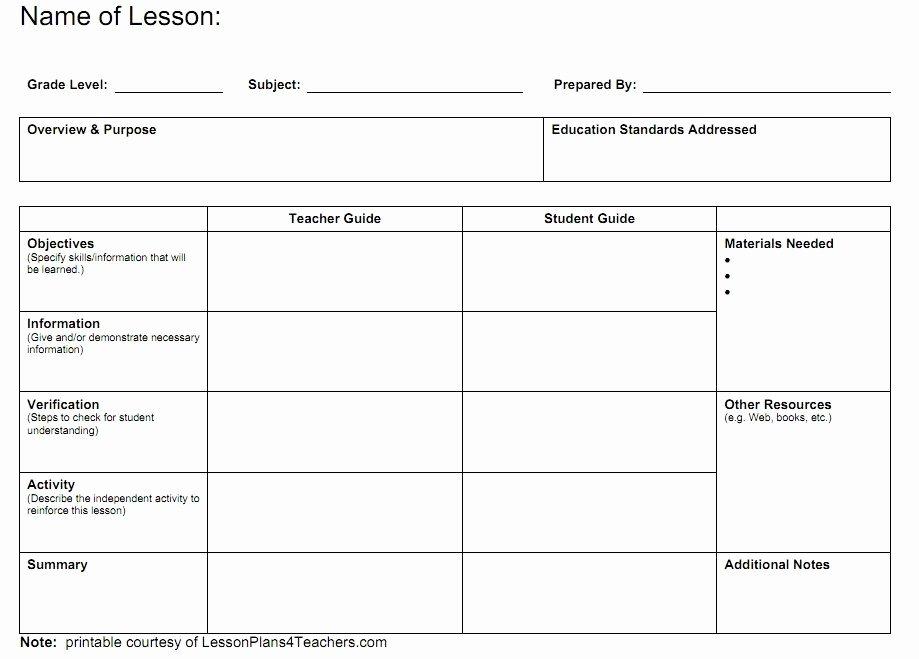 Teachers College Lesson Plan Template Unique Blank Lesson Plans for Teachers