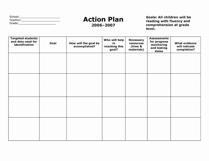 Teaching Action Plan Template Elegant Action Plan Template Action Plan format V5fclyv5