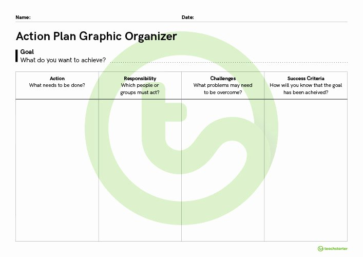 Teaching Action Plan Template Lovely Action Plan Graphic organiser Teaching Resource