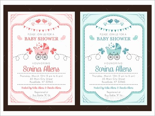 Template for Baby Shower Invitation Best Of 54 Invitation Templates Word Psd Ai