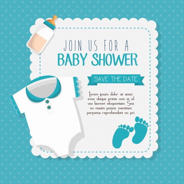 Template for Baby Shower Invitation Elegant Baby Shower Invitation Card Vector Illustration Design