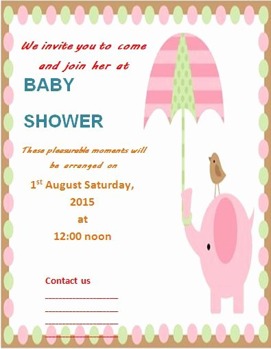 Template for Baby Shower Invitation Lovely Invitation Templates