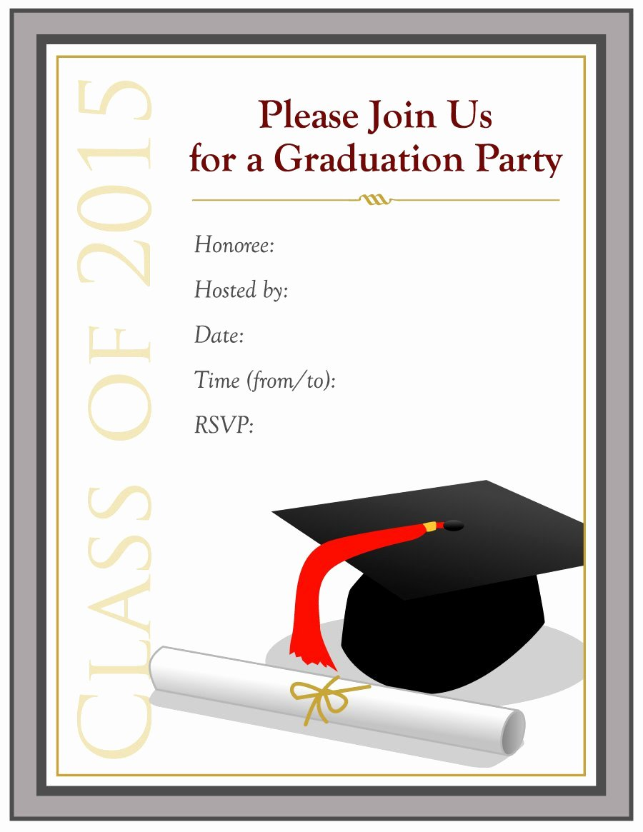 Template for Graduation Invitation Awesome 40 Free Graduation Invitation Templates Template Lab